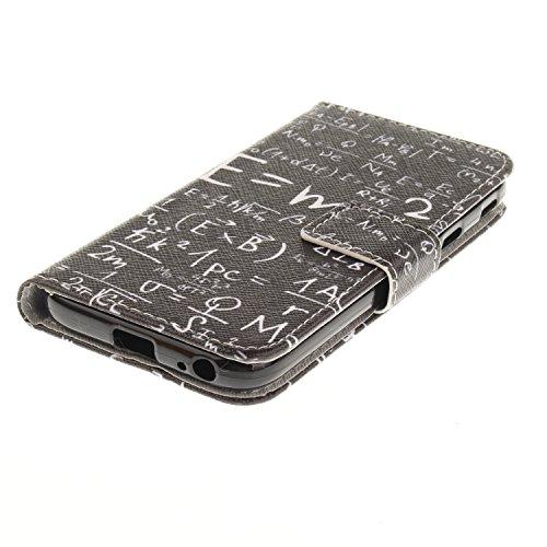 Custodia Galaxy J7 2017, ISAKEN Flip Cover per Samsung Galaxy J7 2017, Elegante borsa Bookstyle Design Flip Caso in Sintetica Ecopelle PU Pelle Protettiva Portafoglio Wallet Case Cover con Supporto di Matematica