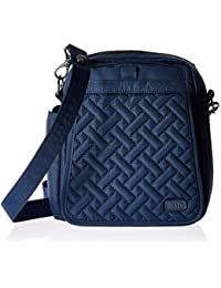 Lug Flapper Cross Body Bag, Brushed Navy Cross Body Bag