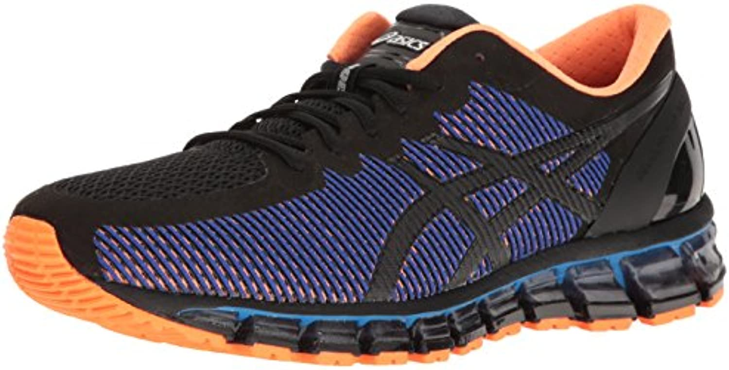 ASICS Men's Gel Quantum 360 cm Running Shoe  Black/Onyx/Hot Orange  7 M US