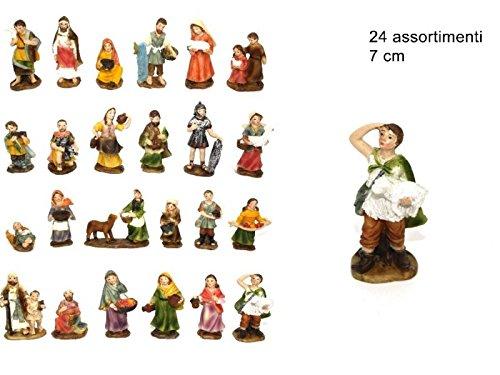 24 pz statuine pastorelli alta qualità 7cm personaggi presepe pastori #pin17