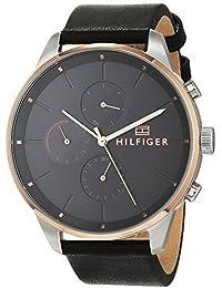 c0b613d9d4fd52 Tommy Hilfiger Unisex-Adult Multi dial Quartz Watch with Leather Strap  1791488