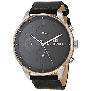 Tommy Hilfiger Reloj Multiesfera para Hombre de Cuarzo con Correa en Cuero 1791488