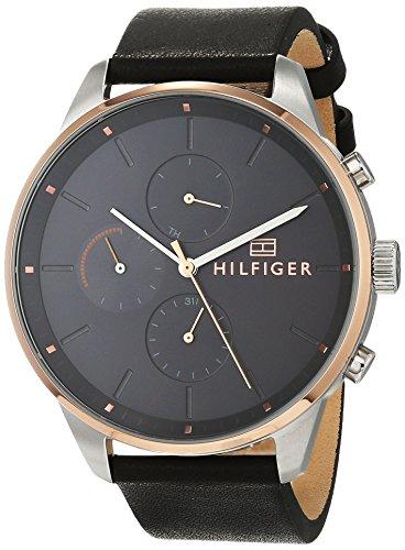 Tommy Hilfiger Mixte Multi-Cadrans Quartz Montre avec Bracelet en Cuir 1791488