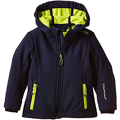 CMP - Flli. Campagnolo, Giacca softshell Bambina, Blu (Navy-Lime), 128
