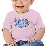 Pmguerxbfhyd Baby Girls Toddler Elephant Sunflower Short Sleeve T Shirt