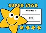"The Sticker Factory A6 Mini ""Super Star"" Certificate (Pack of 32)"