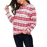 Berimaterry Damen Womens Weihnachten Bedruckte Hoodies Sweatshirt Xmas Ladies Tops Pullover Sweatshirt Kapuzenpulli Top Hoodies
