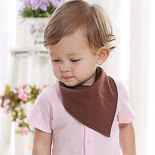 B & y cute Baby bandana Drool bavaglini morbido con bottoni per ragazzi e ragazze Coffee L