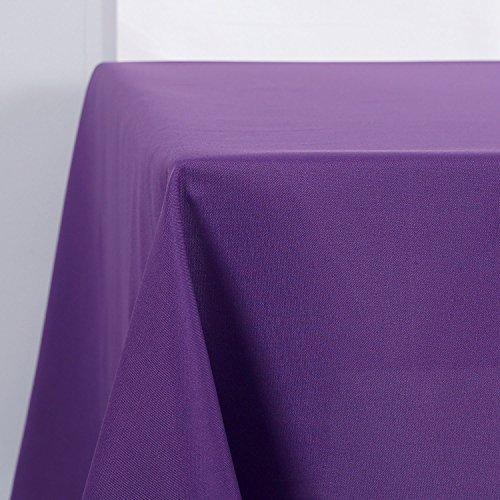 Deconovo Tischdecke Wasserabweisend Tischwäsche Lotuseffekt Tischtuch 130x220 cm Lila