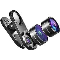 VAVA Fisheye Fischauge Objektiv Lens Set Handy Clip on Kamera Adapter (180 Grad Fisheye Objektiv, 15x Macro Objektiv, 0,36x Weitwinkelobjektive)