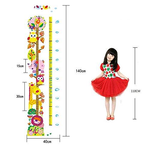 rainbow-fox-vinile-smontabile-di-pvc-impermeabile-altezza-della-tabella-di-scala-adesivi-murali-misu