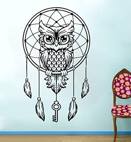 Ajcwhml Adorable búho Dream Catcher Vinilo Pegatinas de Pared Hippie
