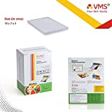 VMS Deluxe Laminating Pouch Film 175 Microns (Lamination Pouch) (70 x 100mm) Set of 4 (400 Pouch) Specially for ID Card