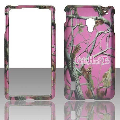 2D Pink Camo GHT Kiefer LG Lucid 2II VS870Verizon Schutzhülle Cover Snap auf Cover Fällen Displayschutzfolie matt gummierte Oberfläche Hard - Lg Telefon Verizon Lucid Für Fällen