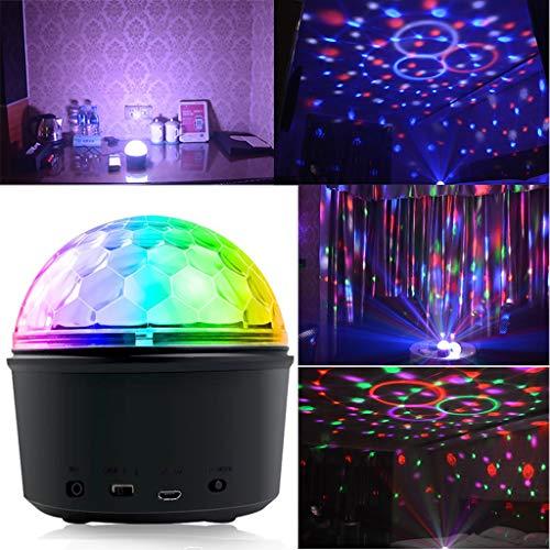 Wokee Discokugel Licht mit Remote Bluetooth Lautsprecher,Disco Party Lichter Bühnenbeleuchtung DJ Stroboskop Kugel,Glitzereffekt für Parties Kinder Geburtstag Club