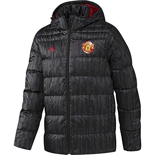 Adidas MUFC Down JKT Chaqueta de la línea Manchester United FC, Hombre, Rojo (Negro/Rojrea), XS