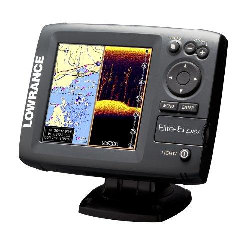 Lowrance Fischfinder/GPS-Kartenplotter Elite-5 DSI, grau