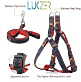 #7: LUKZER Adjustable Soft Padded Dog Harness with Dog Leash (44 inch long) For Your Pet Dogs with Maximum Chest size 18 inches