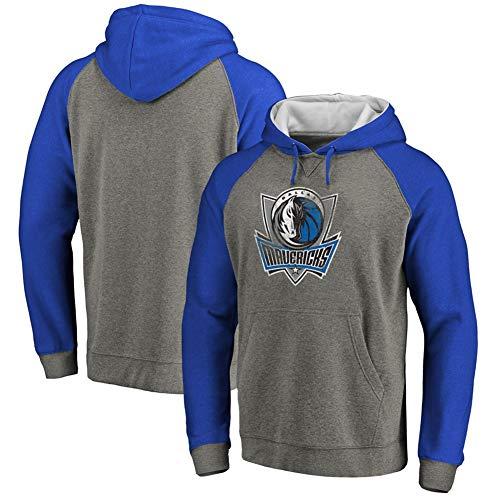 HS-HUWENHUI Basketball League/Dallas Mavericks Fans Kostüm Freizeitkleidung Pullover Für Kapuzenpullover Mit Praktischer Känguru-Tasche,S160~165CM (Dallas Kostüm)