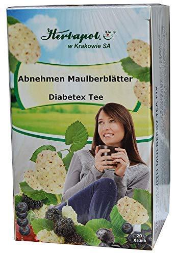 Diabetiker Tee (Abnehmen - Maulbeerblätter plus 3 Kräuter Tee, regt Stoffwechsel, Fettspaltung an, 60x1,5g, 90g, Kundenfeedback: