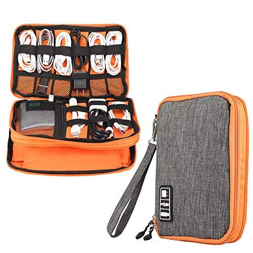 Elektronik-Zubehör-Organizer, doppelschichtige wasserdichte Kabel-Organizer-Tasche, Multifunktions-Reise-Gadget-Tasche, Kabelaufbewahrung, USB-Flash-Laufwerk,