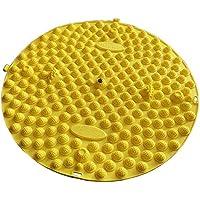 Runde Fußmassager-Therapie-Matten-Fuß-Massage-Auflage Shiatsu-Blatt [Gelb] preisvergleich bei billige-tabletten.eu