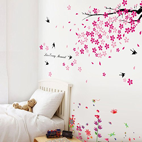 walplus-tm-wall-stickers-combo-swallows-flowers-plus-but-grass-butterflies-home-decoration-170cm-x-1