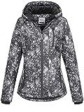 Sublevel Damen D5174X44400A Winterjacke Jacke mit gefütterter Kapuze 9 Farben XS-XL Black Allover S
