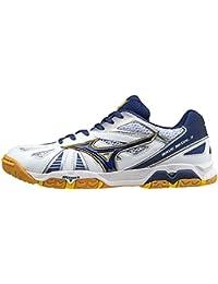 Mizuno zapatos Wave Medal 5, blanco/azul marino, 9.5