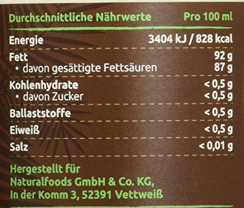 PureBIO Kokosöl nativ und kaltgepresst – 1 Liter - 2