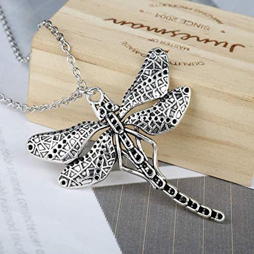 DADATU Halsketten für Herren Schönes Schmuckstück Cute Dragonfly Pendant Choker for Mama Es Neckles Pendants Collares Mujer Party Gift Für Frauen Girl (Dragonfly Mann Kostüm)