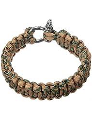 TOOGOO(R) Bracelet 550 PARACORDE de survie Parachute Tressage Reglable Boucle Acier
