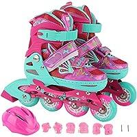 YSCYLY Kids Roller Skates,con Rueda de Flash de PU,para Las NiñAs Y Los NiñOs