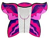 Color Your Nails: 100 Stiletto-Schablonen Extrabreit (Schmetterling) Pink-Lila