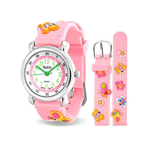 bling-jewelry-pink-girls-butterfly-animal-flower-kids-watch-stainless-steel-back
