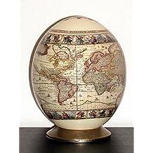 UOVA DI STRUZZO DECORATE con motivo World Map M43
