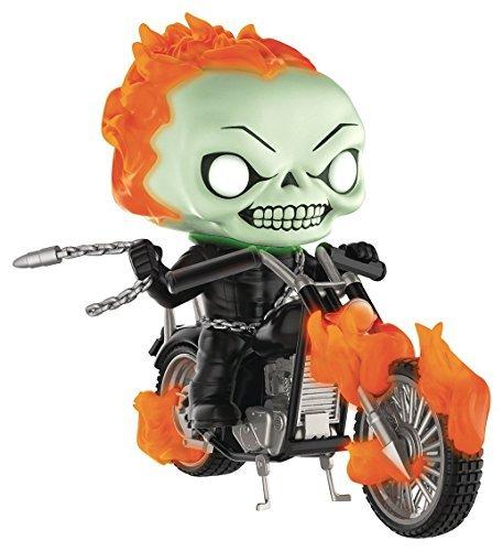 Pop Falten Marvel Classic Ghost Rider with Bike Glow in the Dark Vinyl Figur