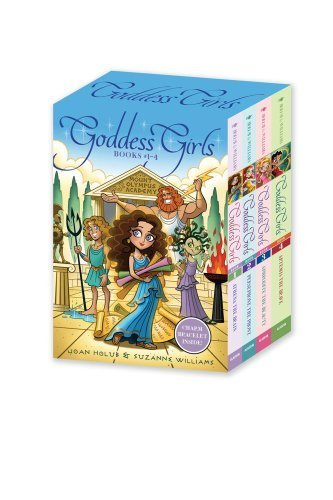 Goddess Girls Books #1-4 (Charm Bracelet Inside!): Athena the Brain; Persephone the Phony; Aphrodite the Beauty; Artemis the Brave by Holub, Joan, Williams, Suzanne (2012) Paperback