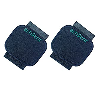 Activera Rebotec Set of 2 Standard Handle Cushions Padding for Underarm Crutches with Standard Handles Black