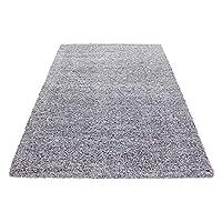 Carpetsale24 SHAGGY AREA RUGS LONG PILE PLAIN SHAGGY CARPET LIGHT GREY, Size:60x110 cm