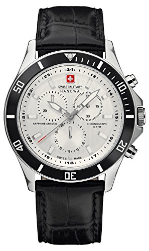 Swiss Military Hanowa Herren-Armbanduhr XL Analog Quarz Leder 06-4183.04.001.07