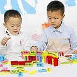 mAjglgE Holz-Domino-Spiel, Mathematikzähler, Lernspiel, Kinder Spielzeug