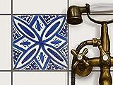 creatisto Fliesen zum Aufkleben | Klebe-Fliesenaufkleber Küchenfliesen Bad-Folie Wanddeko | 20x20 cm Muster Ornament Spanish Tile 7-1 Stück