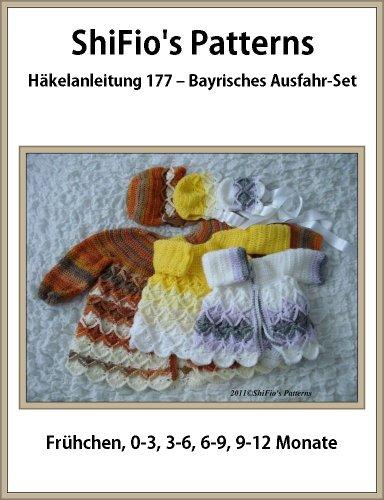 Häkelanleitung  – CP177 -  Set für Babys: Jacke und Mütze im bayrischen Maschenmuster in 5 Größen (Häkelanleitungen Baby-hüte)