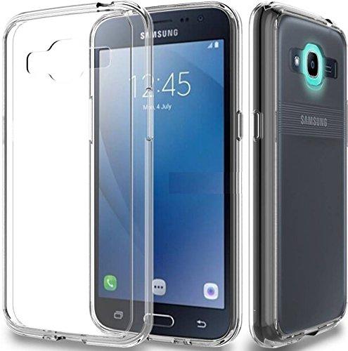 Fashionury Samsung J2 Pro Transparent Slim Thin Anti Scratch TPU Gel Rubber Protective Back Case Cover