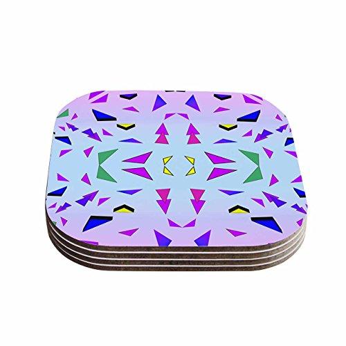 (Kess eigene vasare Nar Tropical Candy Rainbow Gelb Lavendel Digital Untersetzer (Set von 4), 10,2x 10,2cm Multi)