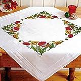 Kamaca Stickpackung Tischdecke Mohnblumen Kreuzstich vorgezeichnet