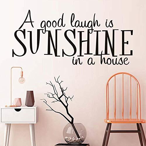 Hxfhxf Ein gutes Lachen ist Sonnenschein in einem Haus Wandtattoos Kunst Buchstaben Vinyl Tapete Aufkleber Wohnzimmer Dekoration 59 * 27 cm - Sonnenschein Spa-bad