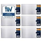 RFID Schutzhüllen (6 Stück) Kreditkarten NFC Schutz EC Karten Hülle Blocker Schutzhülle...