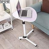 CAICOLOUR Höhenverstellbarer Laptop-Schreibtisch-Nachttisch-fauler Tisch-einfaches Hauptkrankenhaus-Kleiner Tisch (Farbe : Weiß)